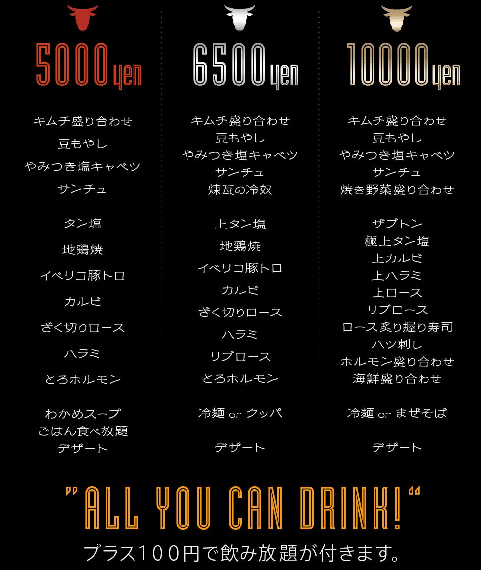 焼肉 赤煉瓦 新松戸店 宴会メニュー